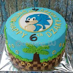 Sonic Birthday Cake, 7th Birthday, Birthday Parties, Birthday Cakes, Birthday Ideas, Bolo Sonic, Sonic Cake, Sonic The Hedgehog Cake, Sonic Party