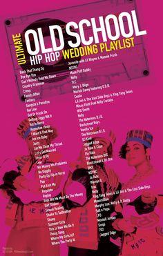 Ultimate Old School Hip Hop Wedding Playlist most requested songs. -… Ultimate Old School Hip Hop Wedding Playlist most requested songs. Hops Wedding, Wedding Songs Reception, Wedding Song List, Wedding Playlist, Wedding Music, Wedding Venues, Party Playlist, Wedding Ideas, Old Wedding Songs