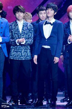 Woohyun and Sunggyu - Infinite 131227 KBS Gayo Daechukjae