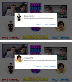 Channel Displays for Dan and Phil play THE IMPOSSIBLE QUIZ! 5