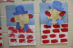 humpty dumpty cute and easy - would change the bricks to torn paper though - great fine motor skill for two-year-old's!
