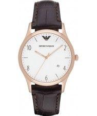 Mens Emporio Armani Mens Classic Dark Brown Leather Strap Watch 139.00 Watches2U