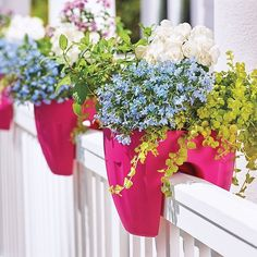 Add Visual Appeal To Your Balcony, Deck, Or Porch With Railing Planters.
