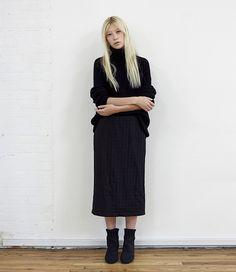 Fashion Story: Avant Noir  Hope / Patti Sweater CdG CdG / Jacquard Windmill Skirt Bless / Eram Knit Boot