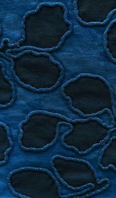 Really love---wow--Alabama hand-dyed organic indigo fabric Fabric Manipulation Tutorial, Textile Manipulation, Fabric Manipulation Techniques, Textiles Techniques, Techniques Couture, Embroidery Techniques, Sewing Techniques, Textile Texture, Textile Fabrics