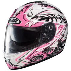 HJC White/Pink/Black Othos IS-16 Motorcycle Helmet