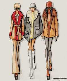 Marc Jacobs Fall '17 Illustration by Anthony Di Stefano