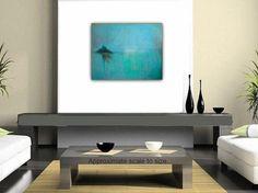 Original Abstract Painting Acrylic Painting Blue by VESNAsART