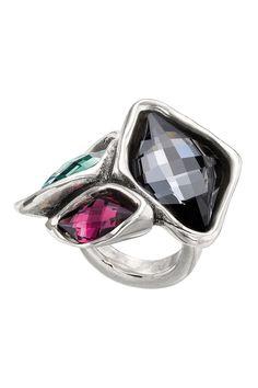 911a921c8 Uno De 50 No Crisis Bezel Set Multicolored Swarovski Crystal Accented Ring  Bisuteria Y Complementos,