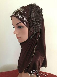 New Style Hot Drill Flower Muslim 1 piece Al-Amira Hijab Islamic scarf. #Unbranded #HijabsNiquabs