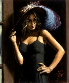 Fabian Perez - Study for Girl with Hat