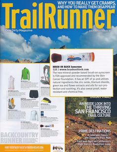 Brush On Block - SPF 30 Sunscreen for Runners - doesn't sting eyes - as reviewed by Trail Runner