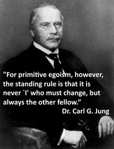 charming life pattern: psychology - carl jung - quote - for primitive ego...