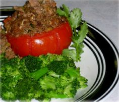 Beef Stuffed Tomato Hcg Recipe   Hcg For You. I'd take out the oil for Phase 2 but it sounds yummy.