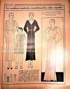Revue Vintage « C'est La Mode » Octobre 1933! Avec patrons tricot, crochet, recettes de cuisine ! Et bien sûr la Mode des années 30 !