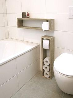 Klopapierhalter - Toilettenpapierhalter, Regal - ein Designerstück von KlausHeilmann bei DaWanda