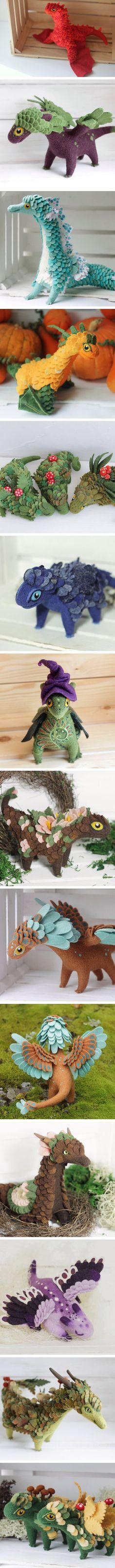 These felt dragons are wonderfully made. (By Alena Bobrova) - 9GAG