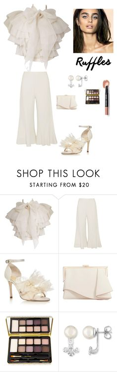 """Elegant in Ruffles"" by kotnourka ❤ liked on Polyvore featuring Peter Pilotto, Isa Tapia, Coast, Bella Il Fiore, Majorica and Bobbi Brown Cosmetics"