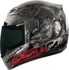 Icon Helmet Airmada Thriller Wolf Grey Motorcycle Riding Helmet #Icon