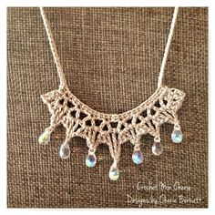 Free Crochet Pattern: Tanya's Teardrop Necklace