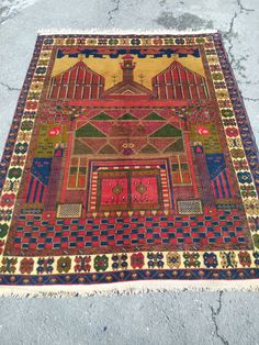 Hand made double knotted naturel dyed rug,soft wool Dye Carpet, Unique Rugs, Traditional Rugs, Bruges, Rug Making, Handmade Rugs, Vintage Rugs, Wool Rug, Bohemian Rug