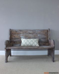 Delightful How To Build A Church Pew { Free DIY Plans