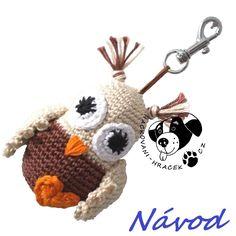 Sovička - přívěsek ....... návod na háčkování (sova) ______________  #sova#owl#háčkovaná#crochet#návod#pattern#PDF#hračka#toy Owl, Christmas Ornaments, Holiday Decor, Xmas Ornaments, Owls, Christmas Jewelry, Christmas Ornament, Christmas Baubles