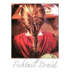 Cute fishtail/french braid
