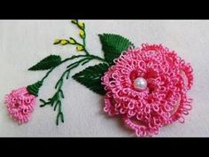 Hand Embroidery: Brazilian Embroidery/Needle tatting - YouTube