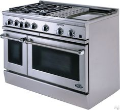 big gas stove | DCS RGT484GGSS 48 Pro-Style Gas Range with 4 Sealed Dual Flow Burners ...