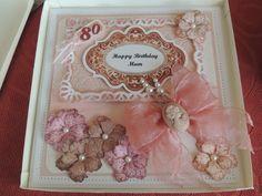 Mums 80th birthday card