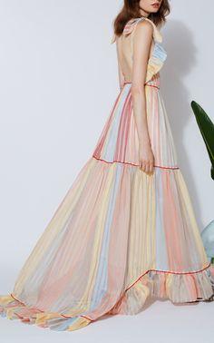 Sirena Ruffle Gown by MARKARIAN for Preorder on Moda Operandi