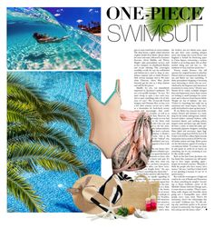 """One piece swimsuit"" by f180289 ❤ liked on Polyvore featuring Versace, Sensi Studio and kiini"