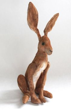 Stitched up from a pdf sewing pattern, this #DIY bunny is bound for hare-loom status. #etsy