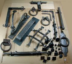 Barn Door Handles, Wrought Iron Hardware, Clavos and