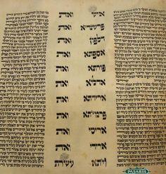 Pasarel - Esther Scroll (Megillah) On Parchment, Poland, Ca 1900. $950.00
