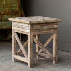 Use our beautiful Rustic Farmhouse Square Side Table as an accent table wherever needed, or use it as a stylish plant stand. Rustic Side Table, Farmhouse Side Table, Rustic Accent Table, Small Living Room Design, Living Room Designs, Primark Home, Square Side Table, Antique Farmhouse, Modern Farmhouse