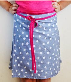 How to Make a Wrap Skirt for Girls | This free skirt pattern is perfect for girls of all ages!