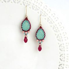 Excited to share the latest addition to my #etsy shop: Turquoise dangle earring, Turquoise teardrop earrings, Gold turquoise earrings, drop earrings gold, Crystal teardrop earrings, Gift for wife #women #earrings #jewelry http://etsy.me/2iVpAJF