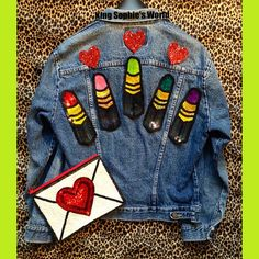 Lipstick Hand Embroidered Sequin Patch For by KingSophiesWorld #kingsophiesworld…