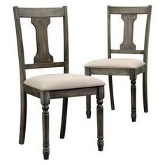 Barrister Lane Weathered Dining Chair (Set of 2) - Vintage Gray - Sauder : Target