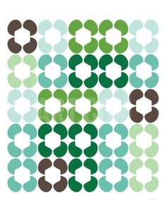 Green Quilt Art Print by Avalisa at Art.co.uk
