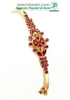 22K Gold Ruby Bracelet