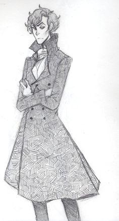 sherlock+bbc+fanart | Sherlock Fan Art by Weaslee ((I don't watch Sherlock, but the art is fantastic.))
