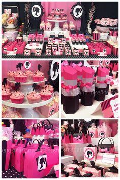 Barbie in Paris birthday idea Barbie Party Decorations, Barbie Theme Party, Barbie Birthday Cake, Spa Birthday, 6th Birthday Parties, Paris Birthday, Vintage Barbie Party, Party Fiesta, Paris Party