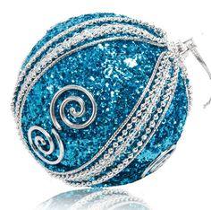round christmas ball ornaments | ... Baubles Christmas Glitter balls XMAS Tree Decor Ornaments Round