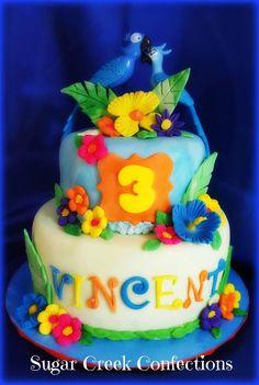 Rio themed Birthday cake Sugar Creek Confections