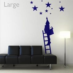 Put some stars in your kid's eyes with this dreamy wall decal!