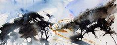 Heavy Sea semi abstract watercolour seascape by Adrian Homersham http://adrianhomersham.co.uk/
