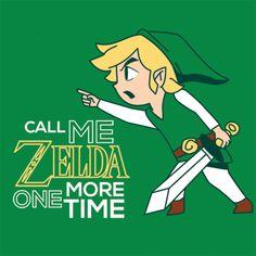Call+Me+Zelda+One+More+Time+T-Shirt+Link+Gaming+Tee+|+Textual+Tees